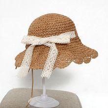 New Fashion Cute Casual Sun Hats Wide Brim Baby Straw Hat Kids Summer Beach Girls Travel Outdoor