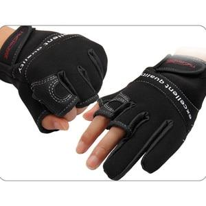 Image 5 - Tsurinoya Winter Fishing Gloves Neoprene Three Finger Cut Gloves Hunting Camping Anti Slip Gel Outdoor Sports Keep Warm Gloves