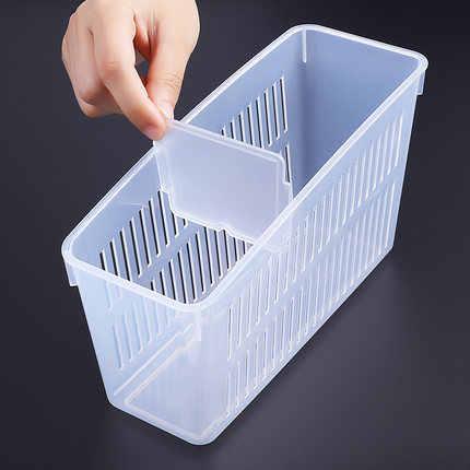 Geladeira caixa de armazenamento cesta de armazenamento cesta de armazenamento de alimentos caixa de armazenamento de plástico de cozinha conjunto