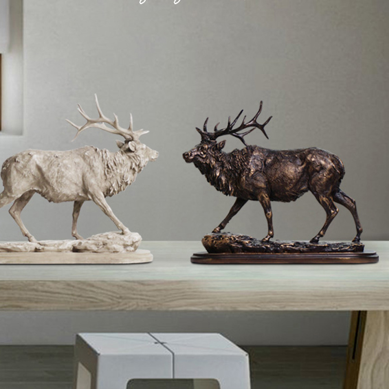 American retro reindeer ornaments crafts Nordic simulation desktop decoration Home Furni ...