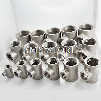 1 1/4 x 1/2 x 1 1/4 Female SS304 Reducer Tee Pipe fitting threaded Biodiesel BSP 2 1 2 male x 1 1 2 female thread reducer bushing m f pipe fitting ss 304 bsp page 6