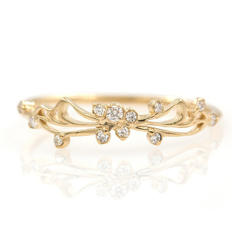 BOAKO Finger-Rings Rhinestones Fashion Jewelry Women for Wholesale Anillos Mujer X7-M2