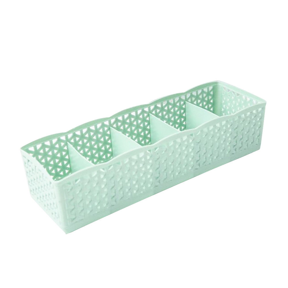New 5 Solt Plastic Organizer Storage Box Makeup Drawer Cosmetic Divider Housekeeping Make up Container Organizers 4pcs/lot