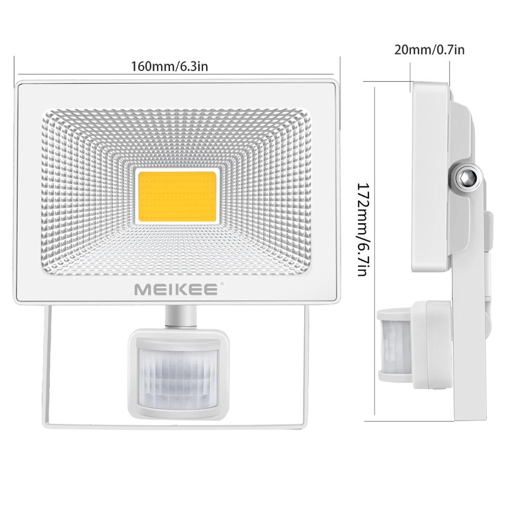 30W LED Flood Light With Motion Sensor Waterproof AC110V 220V PIR Floodlight Projector Lamp Outdoor Spotlight for Garden Street
