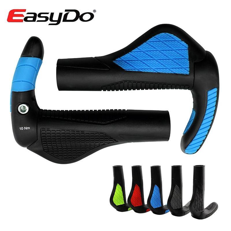 EasyDo Ergonomic Road Bicycle Cycling Handlebar Grips Bar Ends Lock On Mountain Bike Handle Anti skid