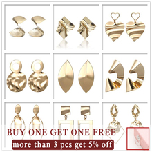 New trendy earring jewelry irregular round metal geometric for women 2019 wholesale factory
