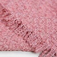 Осень и весна платье пальто куртка Ткань 150 см шириной 560 г/м Вес сладкий розовый вязаный шерсть, акрил, полиэстер Ткань de557