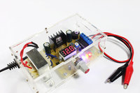 Wholesale Free Shipping 220V DIY LM317 Adjustable Voltage Power Supply Board Learning Kit With Case