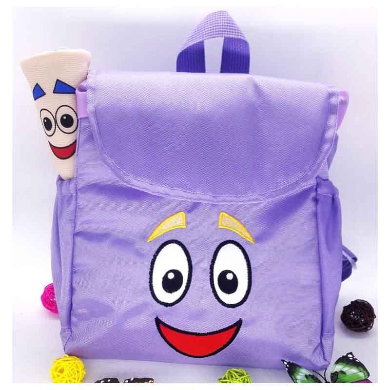Dora the Explorer Adventure Dora Map Backpack Kindergarten Preschool Children Bag Purple(China (Mainland))