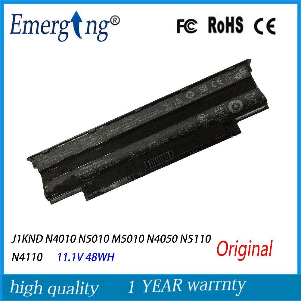 6 cellules 11.1 V 48wh Nouvelle Batterie D'ordinateur Portable D'origine pour Dell Inspiron 13R N3010 14R N4010 J1KND N5010 M5010 N4050 N5110 N4110