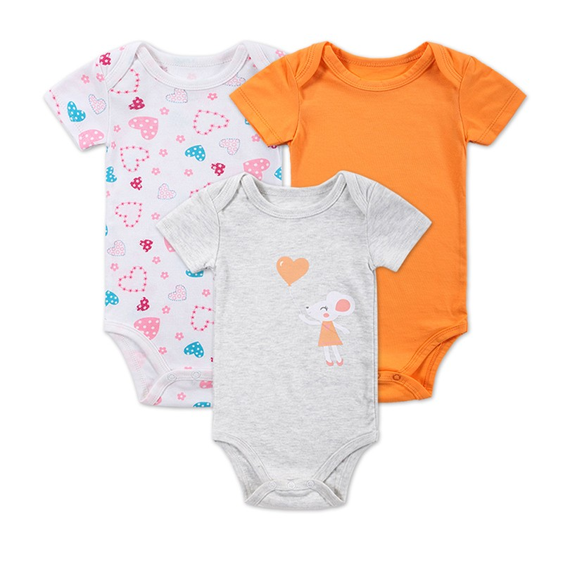 3 Pieceslot Baby Fashion Striped Short Sleeve Rompers Children Jumpsuit Newborn Boys Girls Clothes Body Roupa de Overalls (8)