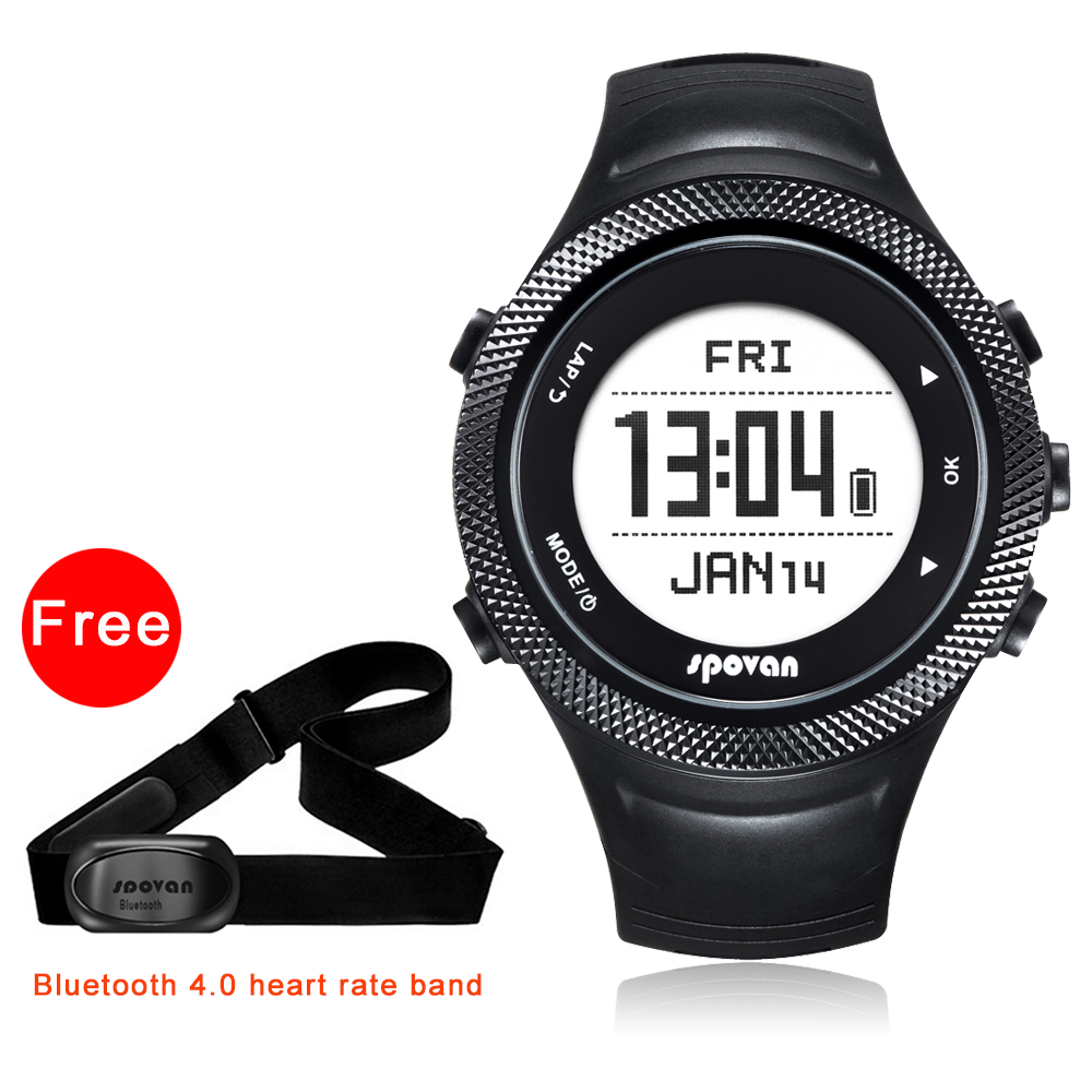 Spovan GPS Sport Watch Bluetooth 40 Chest StrapWaterproof Heart