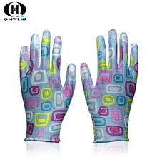 NEW anti-static gloves pu protective anti-skid suitable for electronic light industry cotton packaging