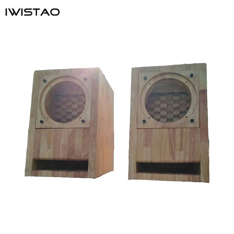 IWISTAO HIFI haut-parleur vide armoire fini Structure labyrinthe avec bois de chêne pour 3/4 pouces gamme complète haut-parleur unité bricolage