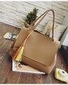 2016 famoso designer da marca mulheres mensageiro sacos de bolsas de couro de alta qualidade bolsos bolsas moda Tassel projeto principal