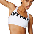 Short Summer Tops 2016 Women Fitness Halter IVY Park Bra Crop Top Woman Sexy Beyonce Black White Sporting Tank Top skinny