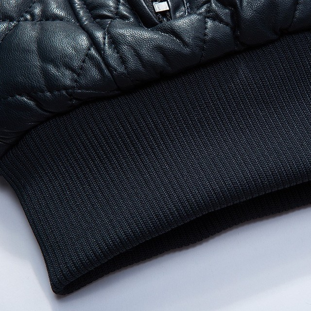 Varsanol Brand Leather Bomber Jacket Men Long Sleeve Zipper Loose Casual Warm Outwear Solid Waterproof Overcoat Plus Size M-4XL
