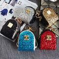 Designer Leather Mini Coin Purse Wallet Keychain Key Chain Key Ring Key Holder Women Bag Accessories Pendant