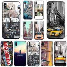 Pattern New York City Times Square Taxi Phone Cover for iPhone XR Case Xs Max X 6 6S 8 Plus 7 5S 5 SE Skin