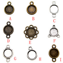 1 Piece 8mm Round Glass Cabochon Base Setting Pendant Tray For Jewelry DIY Making(China)