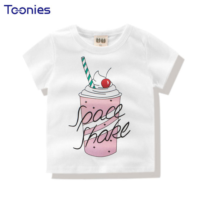 Short Sleeve Cotton Summer Girls T-shirts Cartoon Ice Cream Printed Baby  Girls T Shirt Breathable Toddler Tops Tees Kids Clothes 2aa4c909739