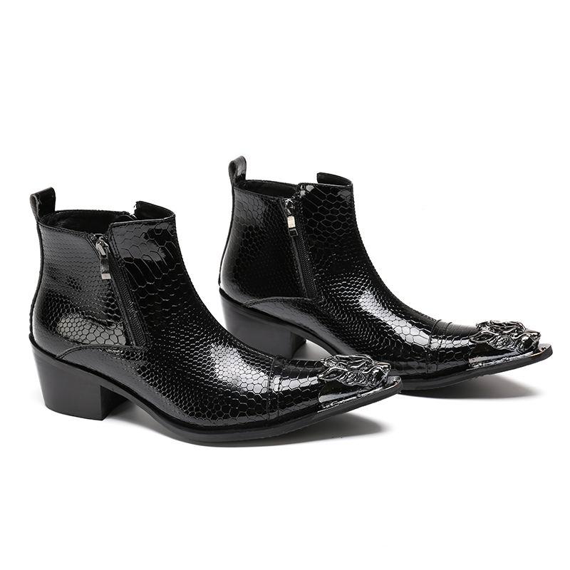 Errfc Serpent Martin Noir High Mode Python D'affaires Loisirs Top Chaussures Personnalisé Cuir Cheville De En Hommes Motif Boot Designer SzMqUpGV