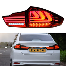 For HONDA City 2015 2016 Taillights LED Tail Light LED Rear Lamp DRL+Brake+Reversing+Signal LIGHT Accessories free shipping for vland auto lamp for land cruiser 2008 2014 2015 led tail light with drl brake light reversing light