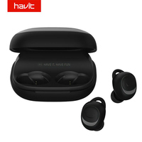 HAVIT Bluetooth Earphone V5.0 TWS Mini Wireless Earbuds In ear Sport IPX5 Waterproof with 2200mAh Box Rechargeable Headset I93