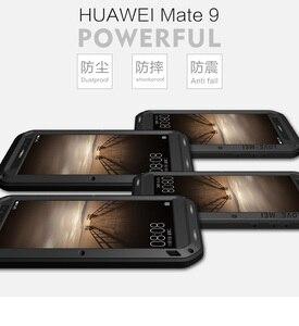 Image 2 - לmate Huawei 9/9 פרו Mate Case אהבת מיי Dirt הלם הוכחה מקרה טלפון מתכת עמיד במים שריון כיסוי לmate Huawei 9 פרו