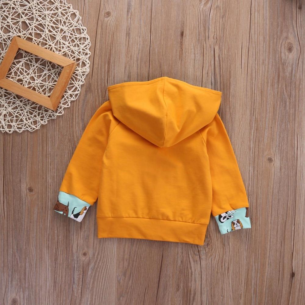 Odzież dziecięca dla dzieci Nowa bluza z kapturem Solidne bluzy z - Odzież dla niemowląt - Zdjęcie 4