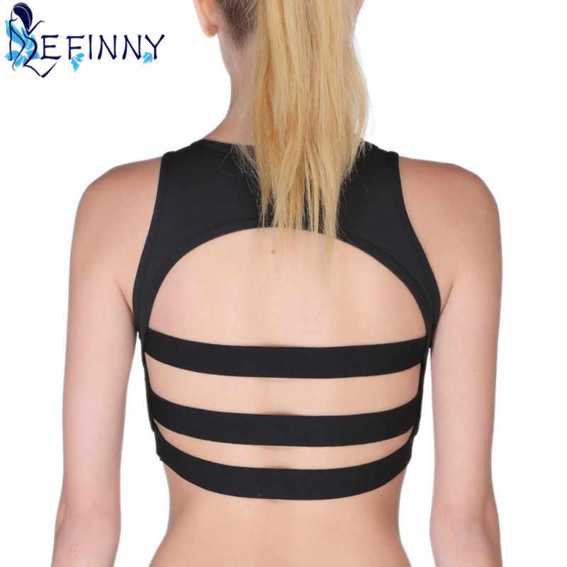 ใหม่ล่าสุดตาข่าย Patchwork Breathable ดูดซับเหงื่อได้อย่างรวดเร็วแห้ง Professional Vest Top Body - building กลับ Hollow Out เซ็กซี่ Tops