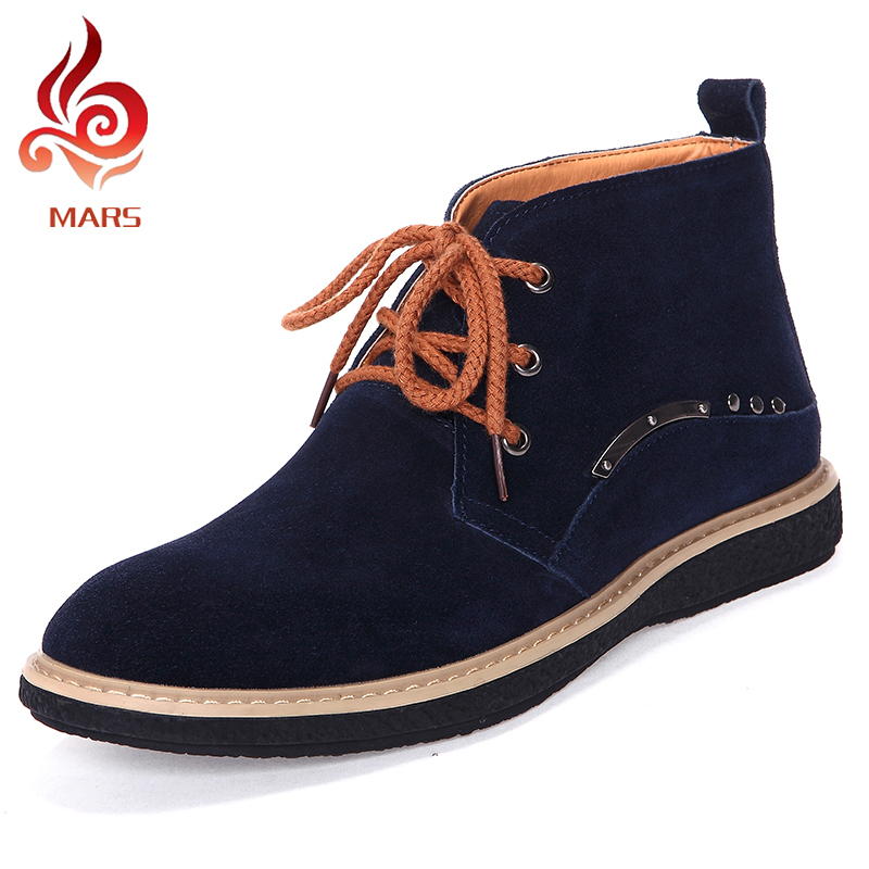 ФОТО 2015 Spring Autumn Boots Men Casual Flat Men's Shoes Soft Ankle Boots for Men Fashion Suede Leather Shoes Men Size:39-44 YD1899