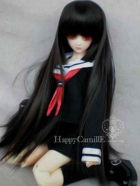Free Shipping BJD / SD doll clothes school uniforms 1/3 1/4 1/6 love sailor clothes suits bjd dress uncle 1 3 1 4 1 6 doll accessories for bjd sd bjd eyelashes for doll 1 pair tx 03