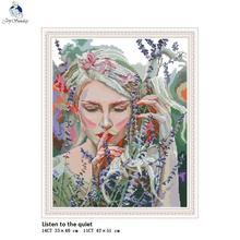 Cross-Stitch Fabric Needlework-Set Embroidery Canvas 11ct Printed Chinese 14CT The DIY