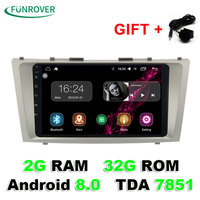 New Funrover 1024 600 Android 8 0 2g 32grom Car Gps Navigation Dvd For Toyota Camry