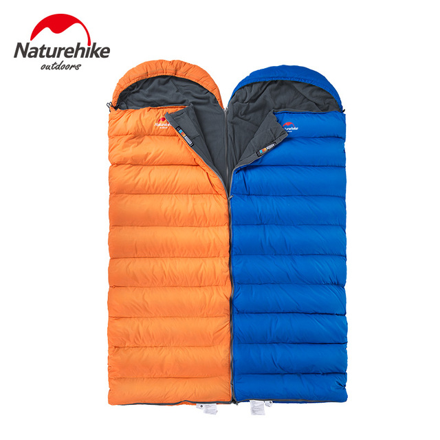 Naturehike 0 Degree Cotton Down Mixture Envelope Sleeping Bags Splicing Single Adult Camping Slepping Bag