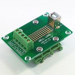 USB typu B żeńskie pionowe Jack tabliczka zaciskowa.