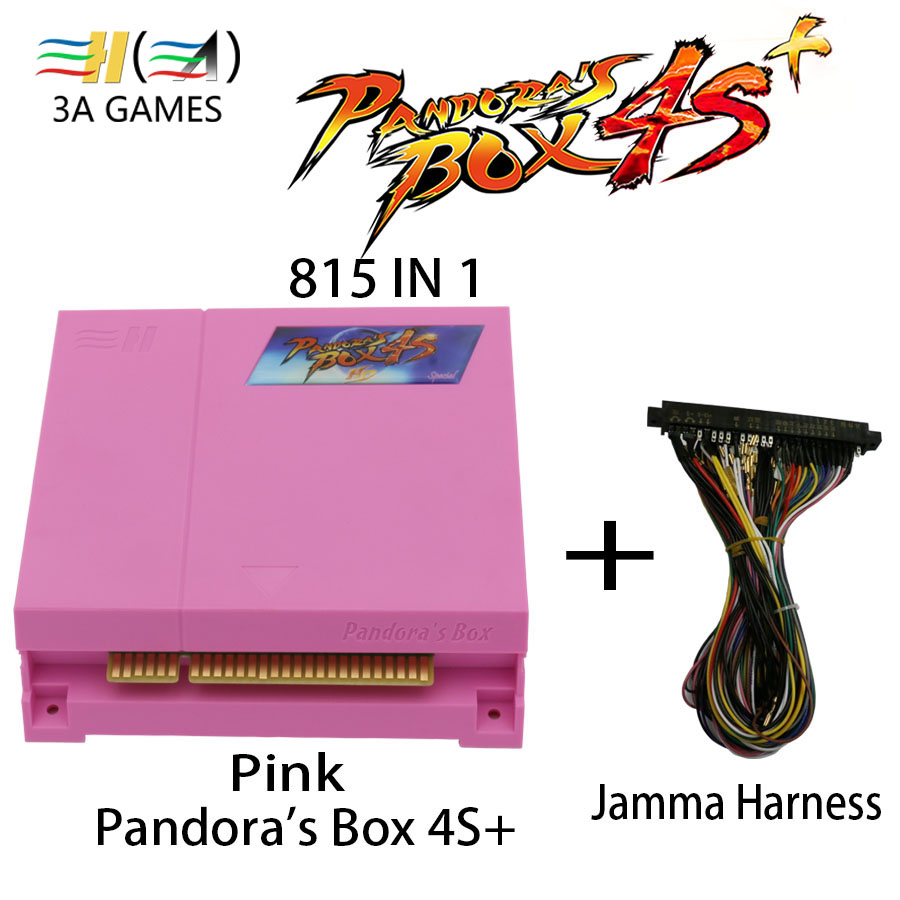 Pandora Box 4 HD Pandora Box 4S+ 815 in 1 Jamma Mutli Game Board Original Pandora's Box 4S plus 815 Multigame Jamma Arcade Board free shipping pandora box 4s 815 in 1 jamma mutli game board arcade mutligame pcb vga hdmi signal output for arcade game cabinet