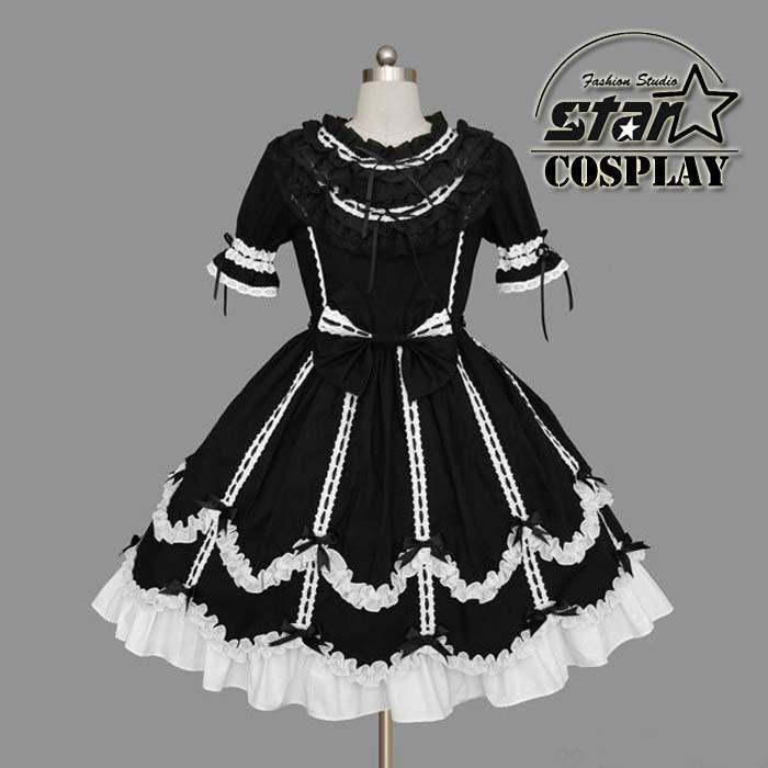 2018 Japanese School Girls Uniform Cosplay Costume Anime Girl Maid Sailor Lolita Dress Striped Black/Pink/White Girl Costume japanese sailor lolita cosplay thick platform cross