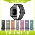 Тканые Нейлон Ремешок для Часов iWatch Apple Watch Sport Edition 38 мм 42 мм Запястье Ремешок из Ткани Браслет Черный Синий Золото Розовый красный