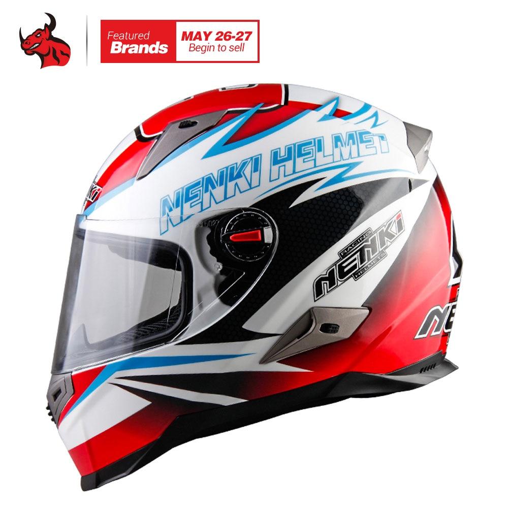 NENKI Motorcycle Helmet Men Motorbike Full Face Helmet ECE Certification Motocross Racing Moto Helmet Capacete De Motocross high quality chrome motocross helmet