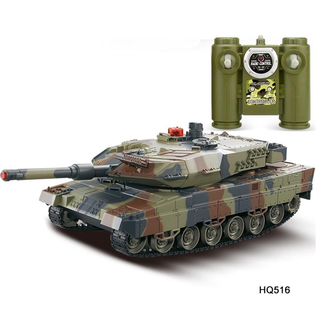 Réservoir de bataille 1/24 échelle allemand léopard A6 infrarouge combat RC réservoir de bataille avec son et lumières sans fil RC réservoir jouets