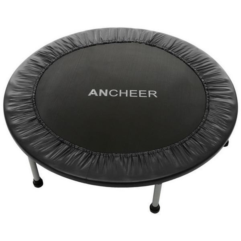 ANCHEER 38inch Mini Folding Trampoline Fitness Workout Rebounder Children Trampoline For Kids Women Adjustable Handrail AngleANCHEER 38inch Mini Folding Trampoline Fitness Workout Rebounder Children Trampoline For Kids Women Adjustable Handrail Angle