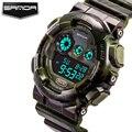 Sanda 2017 ejército militar reloj de los hombres de primeras marcas de lujo famoso led digital deportivo reloj de pulsera relogio masculino masculino reloj electrónico