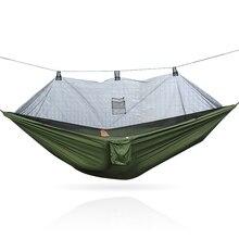 Portatile di campeggio amaca appesa letto con zanzara