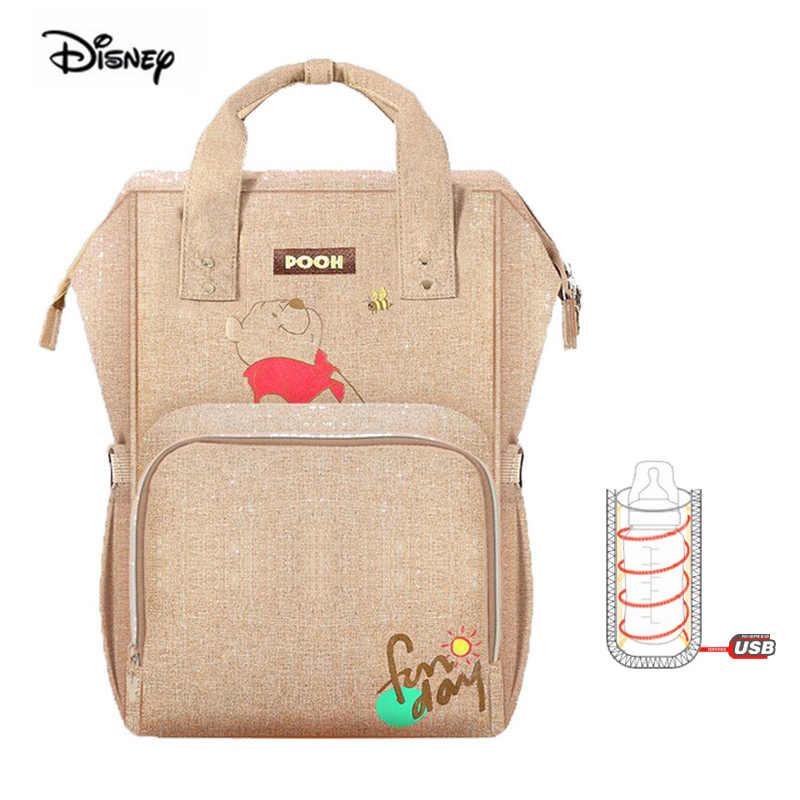Disney multifonction grande capacité couche-culotte sac à dos Minnie Mickey bébé maman sac maternité sac à dos Winnie l'ourson