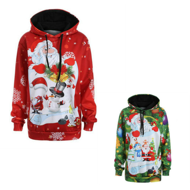 bab5794d6e8f4 Women Christmas Outfits Winter Loose Long Sleeve Hoodies Snowman Tops  Fashion Women Pregnant Sweatershirt Xmas Couple Clothes