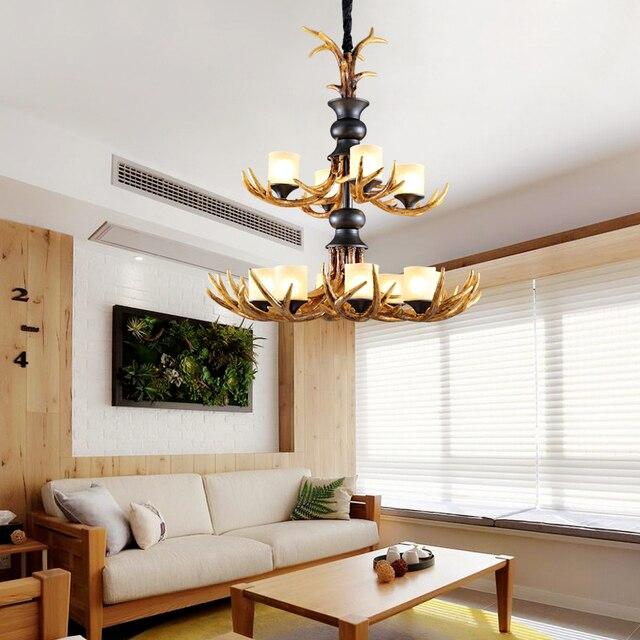 US $399.0 30% OFF|Postmodernen LED wohnzimmer kronleuchter Harz hängen  lichter restaurant abgehängte lampen schlafzimmer beleuchtung Nordic hause  deco ...