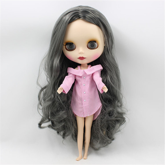 Casual Off Shoulder Striped Shirt For 1/6 Doll