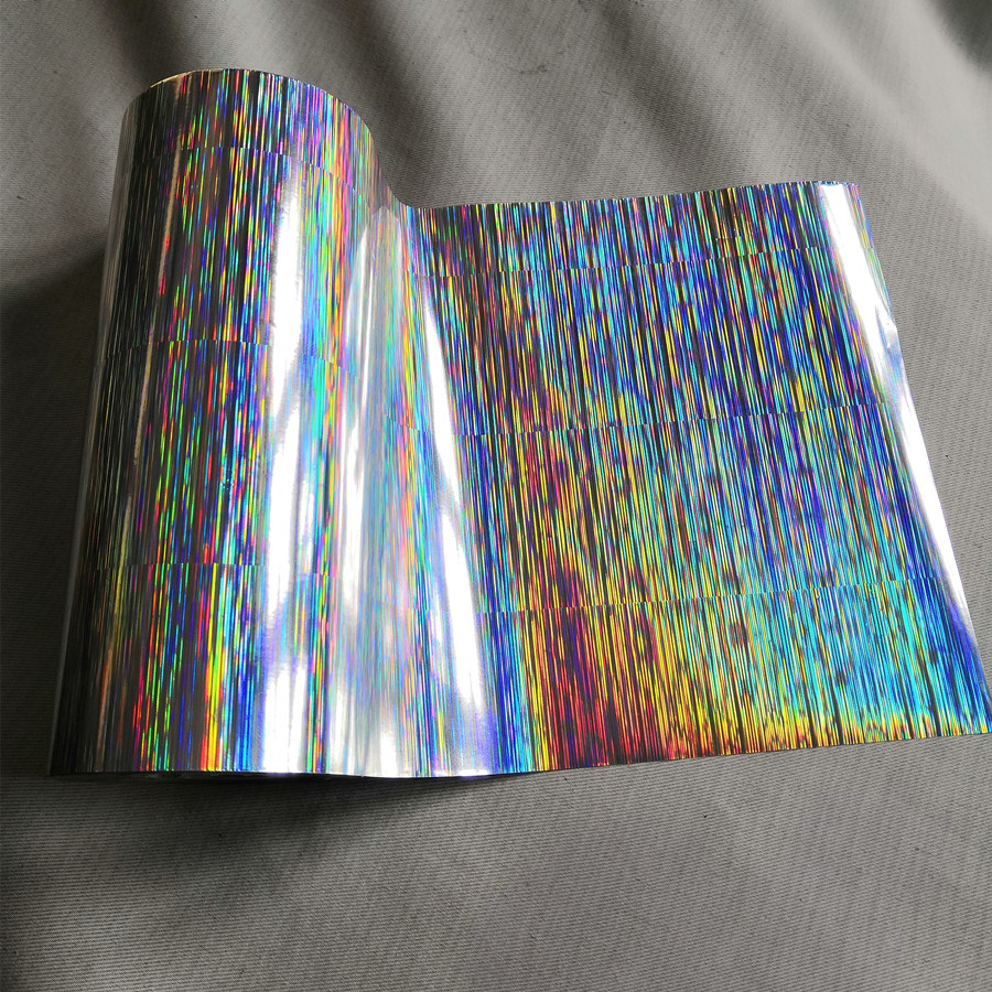 Hot stamping foil holographic foil silver color pine needles pattern hot press on paper or plastic